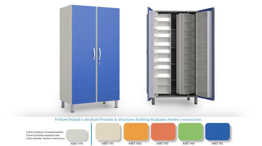 Armadio farmaci 60 contenitori 5 ripiani senza mobiletto for Contenitori per armadi