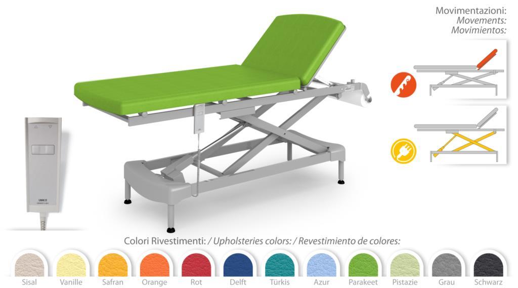 Lettino Massaggio Veneto.Lettino Massaggi Visita 1 Snodo Regolabile In Altezza