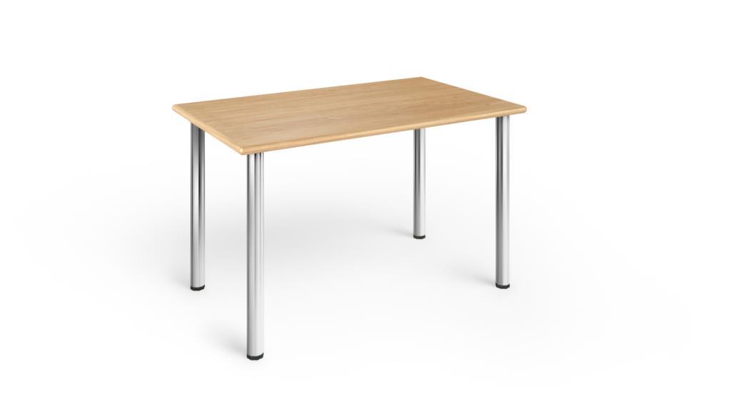 Gambe Cromate Per Tavoli.Tavolo 90x55 Bordo Legno Con Gambe Cromate H 78 In Tavoli